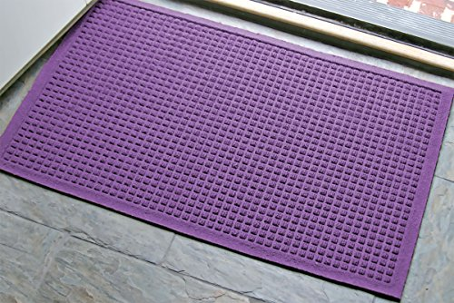 M+A Matting - 280680023 WaterHog Fashion Commercial-Grade Entrance Mat, Indoor/Outdoor Charcoal Floor Mat 3' Length x 2' Width, Purple by