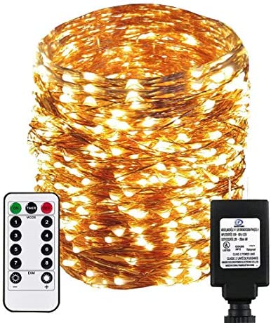 Dreamworth Dimable Led String Lights Plug in Fairy Lights 333Ft 100M 1000 LEDs Copper Wire String product image