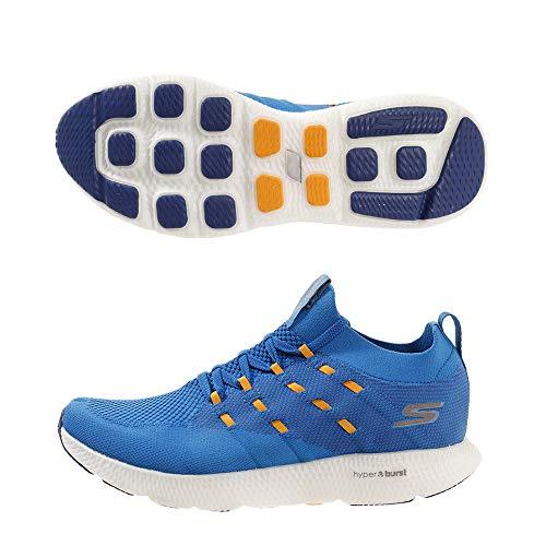 Skechers Men GO Run 7 Blue/Orange Shoes-11 UK (12 US) (55219-BLOR)