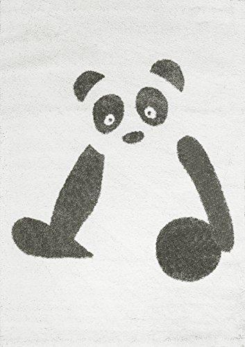 Art For Kids Animal Design cameretta Ultra-Soft Panda Tappeto, Nero/Bianco, 100x 150cm P, plastica, Black/White, 135 x 190 cm