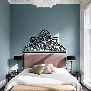 Wall Decal Vinyl Sticker Art Decor Interior Mandala Design Ornament Ganesh Indidan Head Fireplace Geometric Moroccan Pattern Sun Yoga Modern Bedroom (M1457)