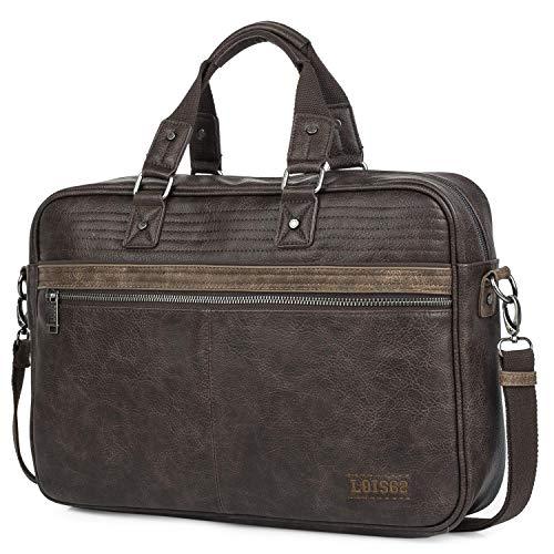 Lois - maletin portatil 15.6 Pulgadas. Cartera portadocumentos para Hombre. Cuero PU....