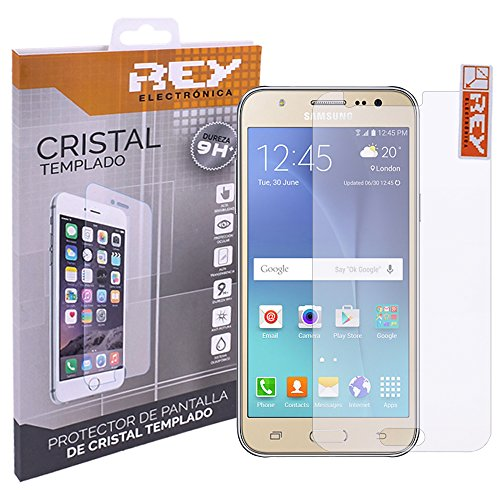 REY Protector de Pantalla para Samsung Galaxy J5 Cristal Vidrio Templado Premium