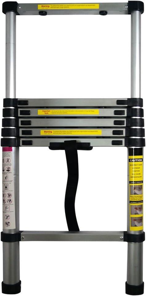 Yi Hai 6.5ft Portable Aluminum Telescoping Ladder Extension Multi Purpose Lightweight - -