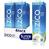 Zico Premium Natural Coconut Water Drinks, Gluten Free, 33.8 fl oz, 4 Pack