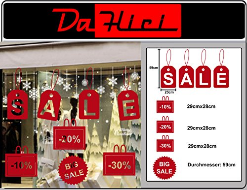 DaHici zelfklevende folie, stickers sale, proces, grote sale voor etalage of decoratie, Oracal premium folie in rood