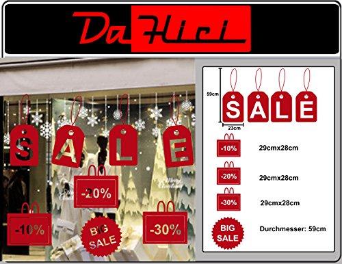 DaHici zelfklevende folie, stickers sale, proces, grote sale voor etalage of decoratie, Oracal premium folie in rood