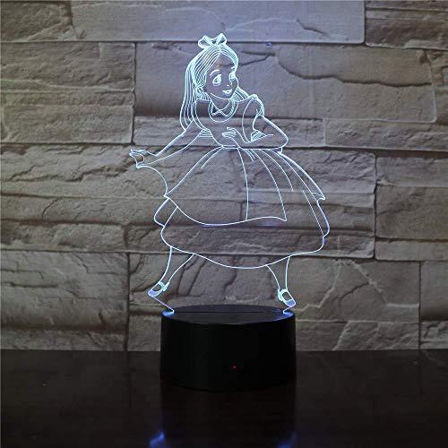 3D Night Light ren 7 colores Sensor Room Decoration Luces del dormitorio Led Night Lights para niños Niños Baby