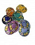 Piatti Vietri Ceramica vietrese Linea Limoni e Olive 6 Fondi, 6 Piani, 6 Frutta 18pz totali