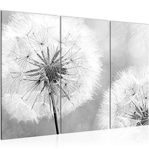 Decoración de la mesa pared de la flor diente de león - 120 x 80 cm Vista de impresión en lienzo Salón Apartamento - listo para colgar - 207131c