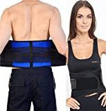 FitMad Adjustable Neoprene Double Pull Lumbar Support Lower Back Belt Brace - Back Pain/Slipped Disc Pain...