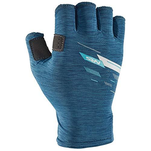 NRS Men's Half-Finger Boater's Gloves-Poseidon-M