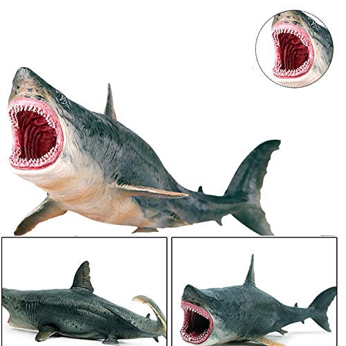 Crazy rice Realistic Shark-Shaped Toys, Realistic Sports Simulation Marine Animal doll Models, Suitable for Gifts for Children Aged 4 to 14 (Crocodile-Shark)