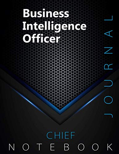 "Chief Business Intelligence Officer Journal, CBIO Notebook, Executive Journal, Office Writing Notebook, Daily Decisions & Action Items Notebook, 140 pages, 8.5"" x 11"", Glossy cover, Black Hex"