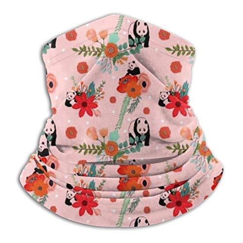 N/A Hals Gaiter Warmer Winddicht Gezichtsmasker Sjaal Outdoor Sport Masker Panda's En Bloemen Voor Stof Buiten Festivals Sport Winddicht Mannen En Vrouwen