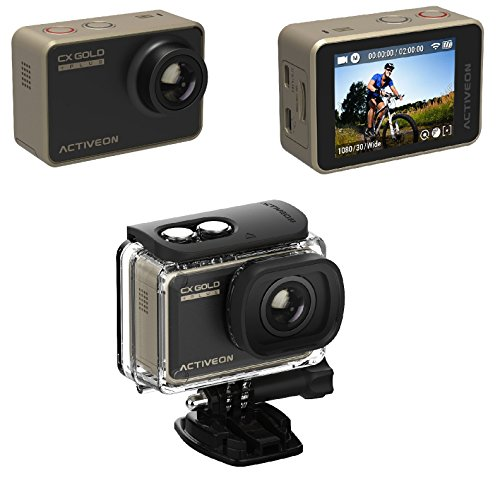 """ACTIVEON 16 Waterproof CX Plus Digital with 2"""" LCD, Gold (CGB10W)"""