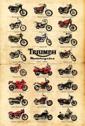 "J-4402 Triumph Classic Motorcycle Poster#2 Size 24""x35""inch. Rare New - Image Print Phot"