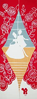 シンデレラ日本手ぬぐい Scene9『王子様と再会しダンスするシンデレラ』