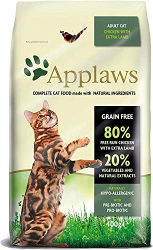 Applaws Cat Dry Food Chicken & Lamb, Pack of 1 (1 x 400 g)