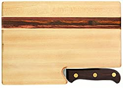 handmade cutting boards ~ chopping board with knife
