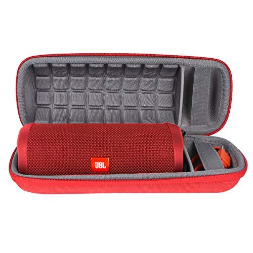 Hart Reise Schutz Hülle Etui Tasche für JBL FLIP 4/3 EIN voll ausgestatteter wasserdichter & mobiler Bluetooth-Lautsprecher von co2CREA (Rot)