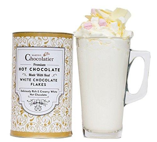 Luxe White Hot Chocolate Gift Set – Heerlijke chocolademelk Gift door Martin's Chocolatier