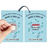 O³ Carte a Gratter Annonce Grossesse | 8 Tickets a Gratter | Annonce Grossesse mamie, papy, parrain, marraine, tonton, tata | Carte Grossesse | Jeu à Gratter