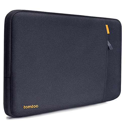 tomtoc 360° Protective Laptop Sleeve designed for Dell XPS 17 2020, HP Notebook 15, Acer Aspire 3, Shockproof Case Bag with Accessory Pocket, Spill-Resistant, Black