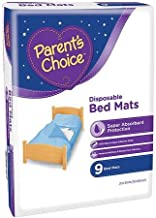 Parent's Choice Disposable Bed Mats, 9 Count