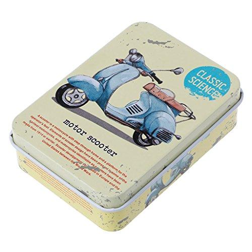 Buwei Mini Caja de Almacenamiento de Metal de hojalata, Soporte para joyería, Tarro, Pendientes, Pendientes, Auriculares
