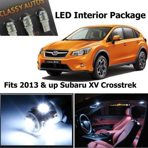 Classy Autos Subaru XV Crosstrek White Interior LED Package (4 Pieces)