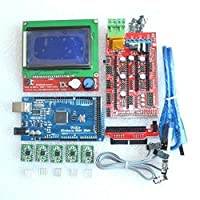 1pcs Mega 2560 R3 + 1pcs RAMPS 1.4 Controller + 5pcs A4988 Stepper Driver Module + 1pcs 12864 controller for 3D Printer kit