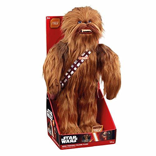 Funko 00825 STAR WARS 00825J 24-Inch Mega Poseable Chewbacca Talking Plush, Multi-Coloured, 24 Inches