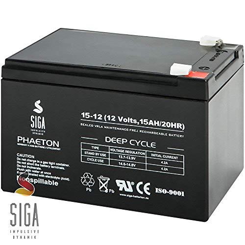 Blei Akku 15Ah 12V AGM Batterie ersetzt 10Ah 12Ah 14Ah 12V Elektro Fahrrad E-Bike Rollstuhl Scooter Pedelec