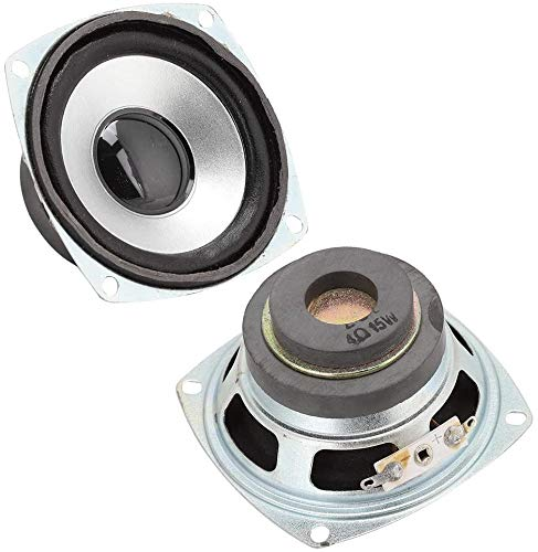 FAMKIT 3 Zoll 4? 15W Auto Vollfrequenz Lautsprecher mit super tiefem Bass Sound HiFi Lautsprecher Full Range Dual Magnetic Lautsprecher Audio Lautsprecher für DIY Desktop Lautsprecher