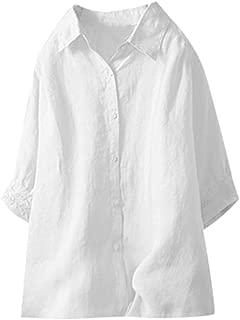 Solid Color Blouse Lapels Half Sleeve Shirt Summer Fashion Wild Basic Blouse