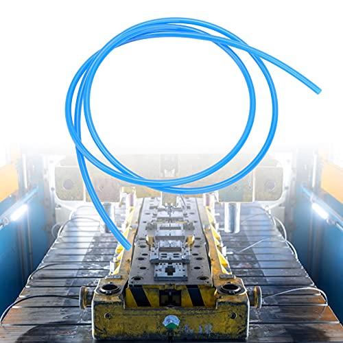 Manguera neumática, excelente tubo neumático a prueba de explosiones, superficie lisa y translúcida para la industria de la madera(blue, 3m)
