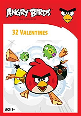 Paper Magic 32CT Showcase Angry Birds Kids Classroom Valentine Exchange Cards