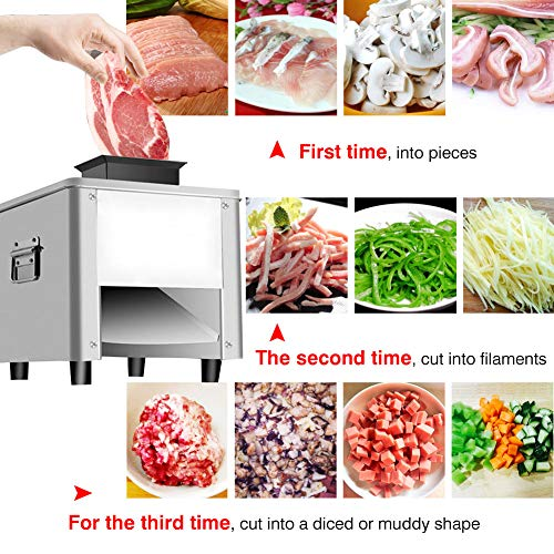 Slicer Meat Chopper Electric Automatic Pork Meat Slicer Fish Beef Without Bone Cutting 150KG/H 850W Commercial Vegetable…