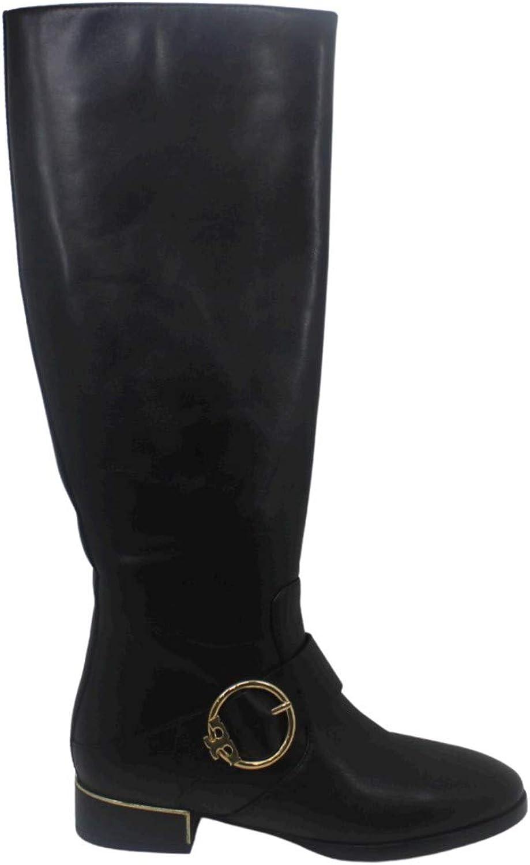 Tory Burch Womens Sofia Leather Closed Toe Knee High Fashion Boots