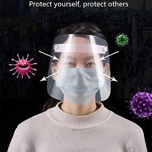 Slyabz 10 PCS Safety Gesichtsschutzschirm, Augenschutz mit Doppelseitige Anti-Fog, Splash Klar Visier Gesichtsschutz