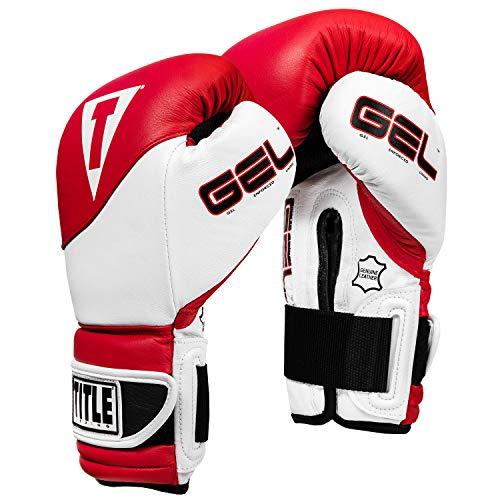 Title Boxing Gel Suspense Training Gloves, Red/White, 14 oz