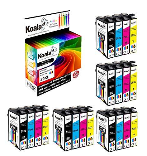 Koala 20 Druckerpatronen Ersatz für Epson 29XL 29 XL T29XL T2991-T2994 für Epson Expression Home XP-235 XP-240 XP-245 XP-247 XP-330 XP-332 XP-335 XP-340 XP-342 XP-345 XP-430 XP-432 XP-435 5*BK/C/M/Y
