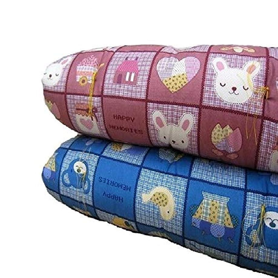 有効化顧問ナビゲーション手作りお昼寝敷布団 綿100% 70×120cm 「ピンク色」