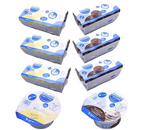 Fresubin 2 kcal Creme Schokolade + Vanille 2 Sorten Mischkarton insgesamt 24 x 125g (3x Schokolade 4x125g und 3x Vanille 4x125g) - Im ConsuMed Produktbundle inkl. Produktplakat