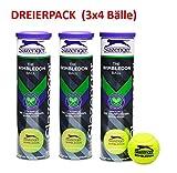 Slazenger ' The Wimbledon Ball' Pelotas de tenis (3 x 4 pelo
