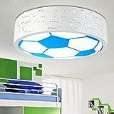 Lampada da soffitto di calcio della stanza da bagno della stanza dei bambini luce della stanza da bagno Lampade da soffitto della lampada del soffitto principale Luce bianca di E27