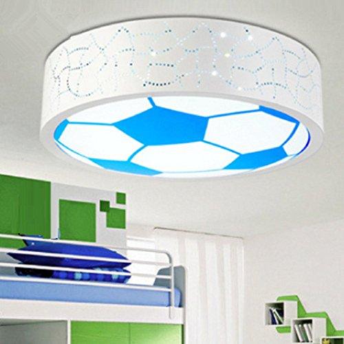 AMZH Neue Kinder Zimmer Fußball Deckenlampe Schlafzimmer Licht Boy Pflege Gläser Deckenleuchte Led Deckenleuchte (ohne Glühbirne) E27 White Light