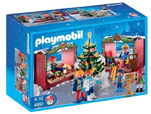 PLAYMOBIL - Mercadillo navideño, Set de Juego (4891)