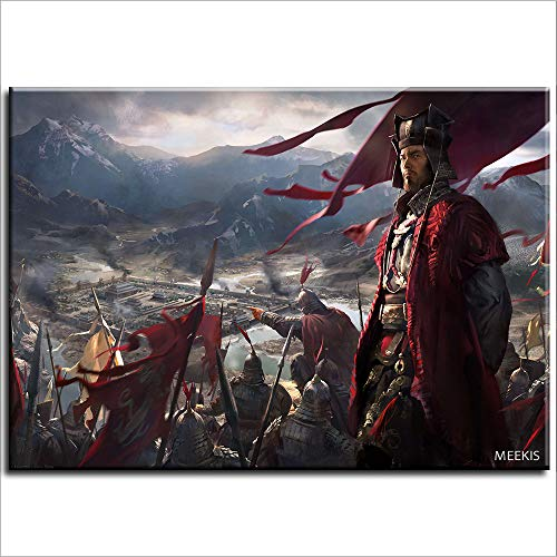 SDFGS Peinture numérique Total War Three Kingdoms Total War Three Kingdoms Toile Art Mural Enfants Adulte débutant 40X50 (Non encadré)